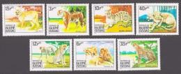 Guinea-Bissau 1984 Mi 779-785 Predators / Raubtiere **/MNH - Timbres