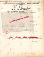50 - DUCEY- PONTORSON- FACTURE PORCELAINES-PORCELAINE-FAIENCES- CRISTAUX-VERRERIE-J. ARONDEL- 1928 - France