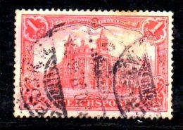 GERMANIA IMPERO 1900 , 1 Mk N. 61 Usato . REICHSPOST - Germania