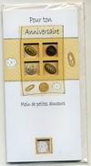4 Cartes Postales Modernes Sous Cellophane Thème Anniversaire Sujet En Relief  Valeur Du Lot 11,60 Euros - Cartes Cadeaux