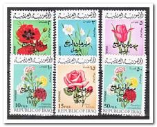 Irak 1970, Postfris MNH, Flowers, Overprint - Irak