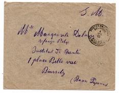 1915 - ENVELOPPE FM De BELGIQUE Avec TàD POSTES MILITAIRES - Marcophilie (Lettres)