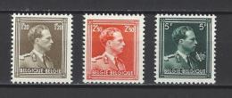 BELGIQUE . YT  1005/1007 Neuf * Léopold III 1956-57  (voir Scan) - Belgique