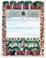TELEGRAMM - TELEGRAMME A 14 (D F) - Cachet HERBESTHAL Au Dos - Stamped Stationery