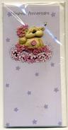 4 Cartes Postales Modernes Sous Cellophane Thème Anniversaire Sujet En Relief  Valeur Du Lot 11,60 Euros - Gift Cards