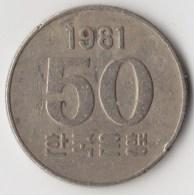 @Y@     Zuid Korea  50 Won  1981    (4045) - Korea (Süd-)