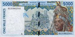WEST AFRICAN STATES - COTE D'IVOIRE (IVORY COAST) 5000 FRANCS 2001 P-113Ak UNC [WAS118Ak] - West African States