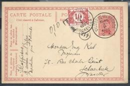 Ep 10c Rge De VILVORDE/1921 Pour Schaerbeek Taxé Avec TTX 10c - 1915-1920 Albert I