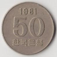 @Y@     Zuid Korea  50 Won     1981    (4052) - Corée Du Sud
