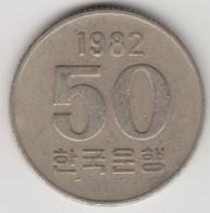 @Y@     Zuid Korea  50 Won     1982    (4057) - Korea (Süd-)