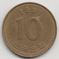 @Y@     Zuid Korea  10 Won     1991    (4058) - Korea (Süd-)