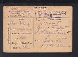 Kriegsgefangensendung Lager Holzminden Zivilist Nach Gebwiler Elsass - Deutschland