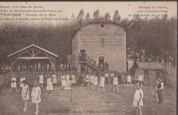 CPA:Villeurbanne:Pont De Cusset:Restaurant Favier - Villeurbanne