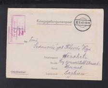 Kriegsgefangenenpost 1942 Oflag XIII B Nürnberg-Langwasser Nach Serbien Banat - Germania