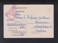 Kriegsgefangenenpost 1944 Oflag XIII B Hammelburg Nach Serbien - Germania