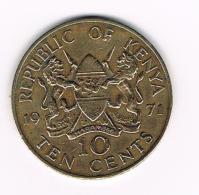 *** KENIA  10 CENTS  1971 - Kenya