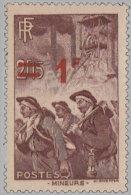 France 1940. ~ YT 489** - 1 F. / 2 F. 15 Mineurs - France