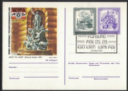JP211     Austria Österreich  WIPA 1981 Wien  Postkarte - Interi Postali