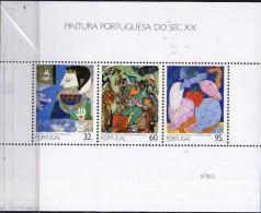 PIA -  PORTOGALLO - 1990  : Pitture Portoghesi Del XX° Secolo    - (Yv  Bf   74) - Blocchi & Foglietti