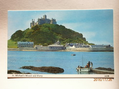 Postcard St Michaels Mount And Ferry Cornwall My Ref B1221 - St Michael's Mount