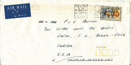 Australia Cover Sent Air Mail To USA Perth 29-3-1995 Single Franked - 1990-99 Elizabeth II