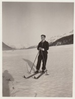 Photo Suisse Grisons Maloja Zuoz Paysage Ski Neige - Plaatsen