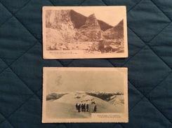 Coppia Di Cartoline Primi 900 Zone Di Guerra In Montagna Viaggiate Nel 1916 - Guerre 1914-18