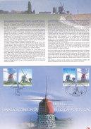 Emission Commune Belgique Portugal (Moulin Windmolen) - Souvenir Cards