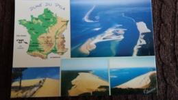 CPM CONTOUR DE FRANCE GEOGRAPHIQUE DUNE DU PYLA BASSIN D ARCACHON - Mapas