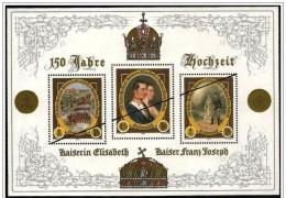 Austria/Autriche: Specimen, Miniature Sheet, Matrimonio Elisabetta F. Giuseppe, épousé Elizabeth F. Joseph - Familias Reales