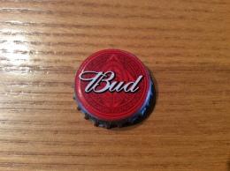 """Capsule De Bière Etats-Unis """"Bud"""" Blanc Sur Rouge Z - Bière"""
