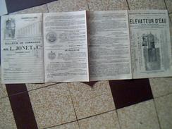 Publicite 3 Pages Elevateur D Eau Systeme Jonet Usine A Raisme Les Valenciennes Nord Annee A Definir - United States