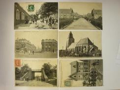62. LOT DE 6 CP .  ROUVROY . MERICOURT . HENIN-LIETARD . BERCK-VILLE . BARLIN . TOURNANT-RYCKELYNCK. - Autres Communes