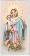 SANTINO  HOLY CARD - MADONNA Del ROSARIO - Ediz: NB Nino Basevi - E 6117 - Cromo, Fustellato *** - Santini