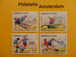 Niger 1990, WORLD CUP ITALY 90 / FOOTBALL SOCCER VOETBAL FUSSBALL FUTBOL CALCIO: Mi 1090-93, ** - Copa Mundial