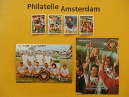 S. Tome E Principe 1989, WORLD CUP ITALY 90 / FOOTBALL SOCCER FUSSBALL FUTBOL CALCIO: Mi 1178-81, + Bl. 234-35, ** - 1990 – Italië