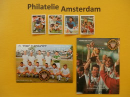 S. Tome E Principe 1989, WORLD CUP ITALY 90 / FOOTBALL SOCCER FUSSBALL FUTBOL CALCIO: Mi 1178-81, + Bl. 234-35, ** - Fußball-Weltmeisterschaft