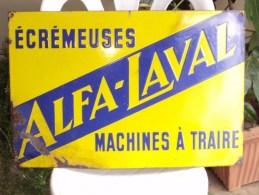 Plaque émaillée Ancienne Alfa-Laval Dimensions: 60x45 Cm - Brands