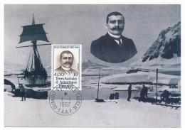 TAAF - Carte Maximum - Jean TURQUET - Dumont D'Urville 1-1-1997 - Covers & Documents