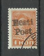 Estland Estonia 1941 German Occupation ELVA Michel 1 X O Signed Avarsoo - Occupation 1938-45