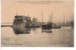 Montreuil Bellay : Catastrophe Du Chemin De Fer 1911 - Vue De L'état Des Lieux Après L'accident (publicité Photographie) - Montreuil Bellay