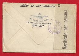 AERONAUTICA CASTELLO D'ANNONE ASTI 1942 - Guerra 1939-45