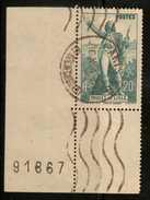 France  Sc# 309 (o)  Used PL# Sgl 1936 - France