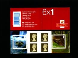 GREAT BRITAIN - SELF-ADHESIVE BOOKLET 6 X 1st  MAMMALS  MINT NH  PM 23 - Libretti