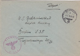 Feldpost WW2: From Caucasus Area - Regimentsstab Gebirgs-Artillerie-Regiment 94 FP 31656 P/m 24.8.1942 - Cover Only. Und - Militaria