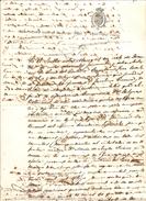 MANGAS SELLO TERCERO PARAET BIENO DE 1838 Y 1859 DOS REALOS LUIS DEL CASTILLO - Documentos Históricos
