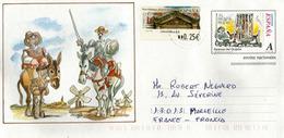 Scènes De Don Quichotte, Entier Postal Español Adressé En France - 1931-....