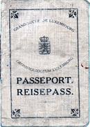 PASSEPORT GRAND DUCHE DE LUXEMBOURG  REISEPASS 1917 - Documenti Storici