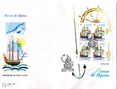 2 Sobres  De  Primer Dia  Serie Nº 3352/3 Barcos De Epoca. - FDC