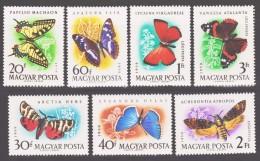 Hungary 1959 Ungarn Mi 1633-1639 Butterflies / Schmetterlinge **/MNH - Vlinders